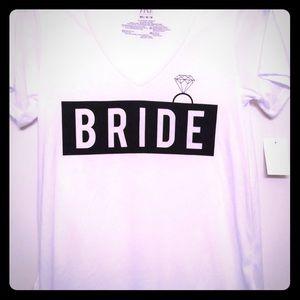 Bride Tee Shirt. XL Mighty Fine NWT